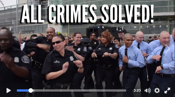 Detroit Police Solve All Unsolved Murders, Rapes and Other Crimes, Celebrate by Filming Choreographed #RunningManChallenge Dance Video