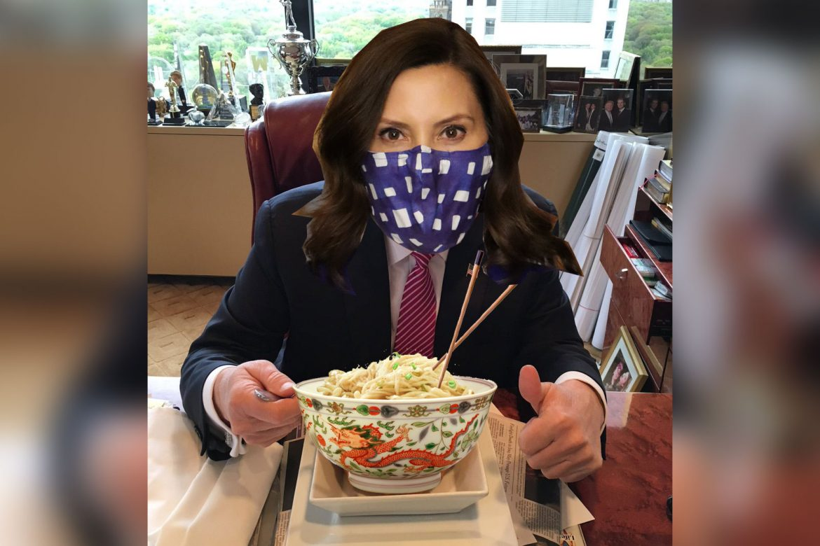 """""""I Love Chinese Food"""" Says Gretchen Whitmer, in Celebration of Cinco de Mayo"""